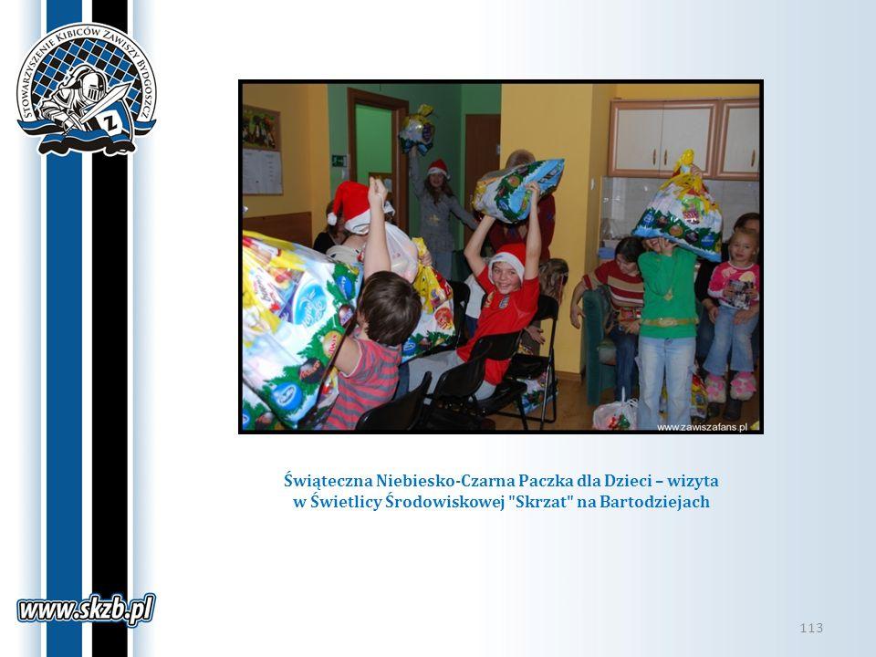 Świąteczna Niebiesko-Czarna Paczka dla Dzieci – wizyta w Świetlicy Środowiskowej Skrzat na Bartodziejach