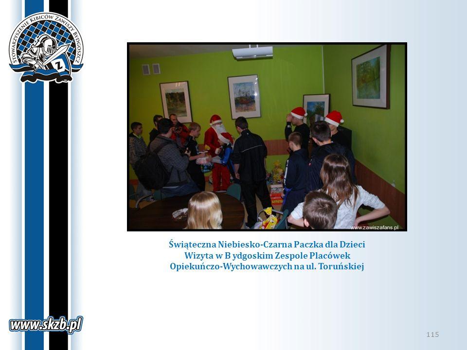 Świąteczna Niebiesko-Czarna Paczka dla Dzieci Wizyta w B ydgoskim Zespole Placówek Opiekuńczo-Wychowawczych na ul.