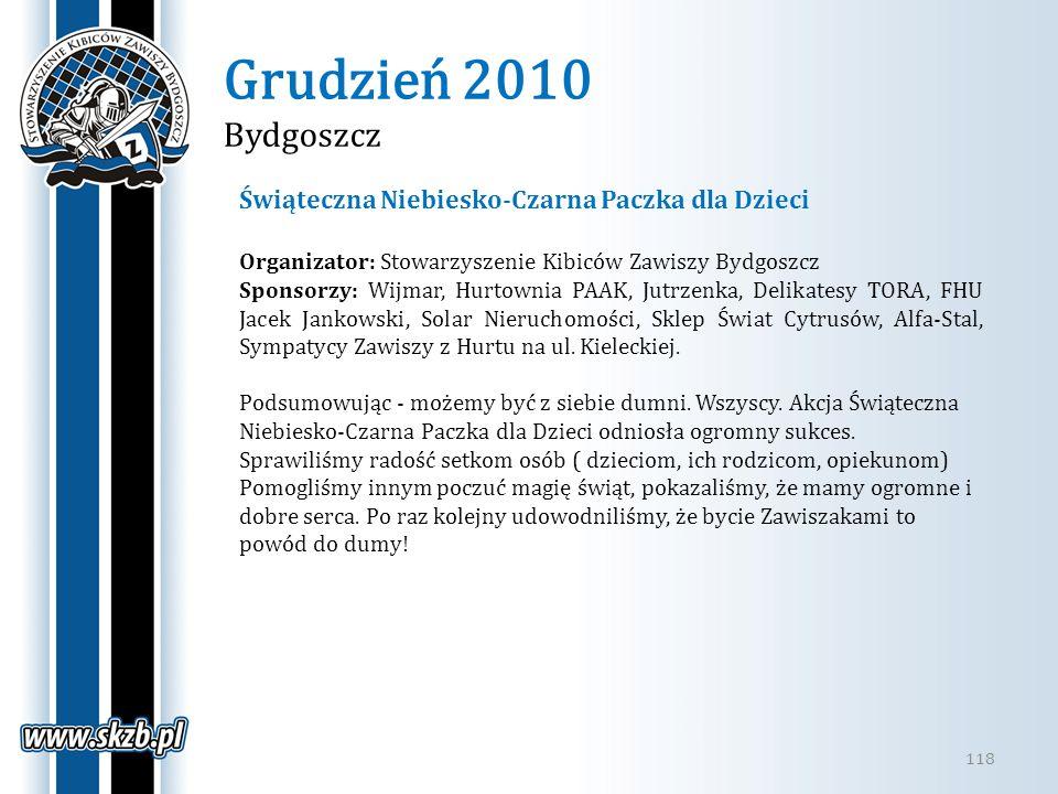 Grudzień 2010 Bydgoszcz Świąteczna Niebiesko-Czarna Paczka dla Dzieci