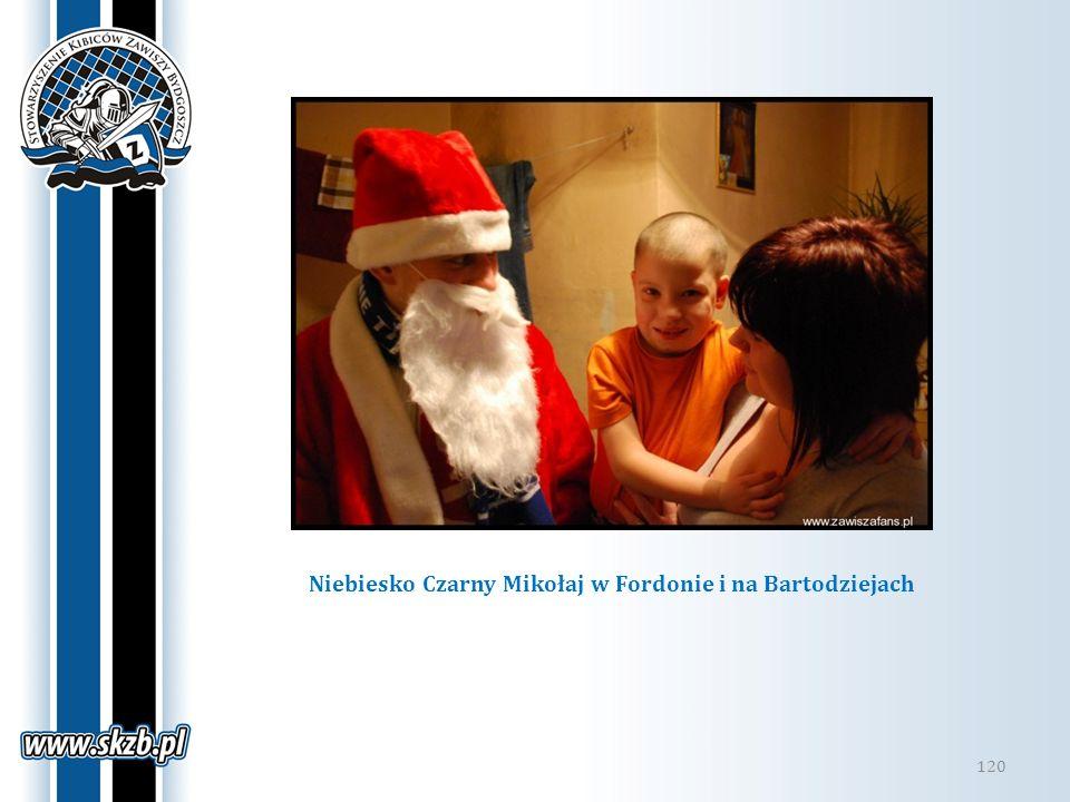 Niebiesko Czarny Mikołaj w Fordonie i na Bartodziejach