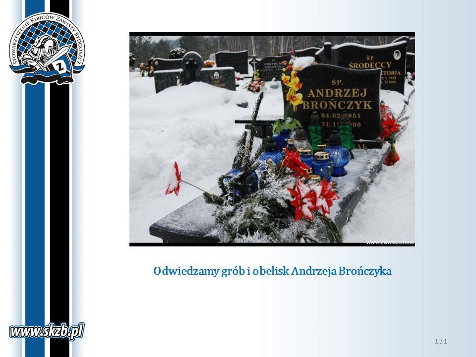 Odwiedzamy grób i obelisk Andrzeja Brończyka