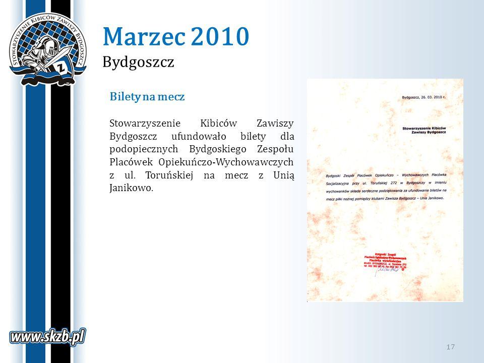 Marzec 2010 Bydgoszcz Bilety na mecz