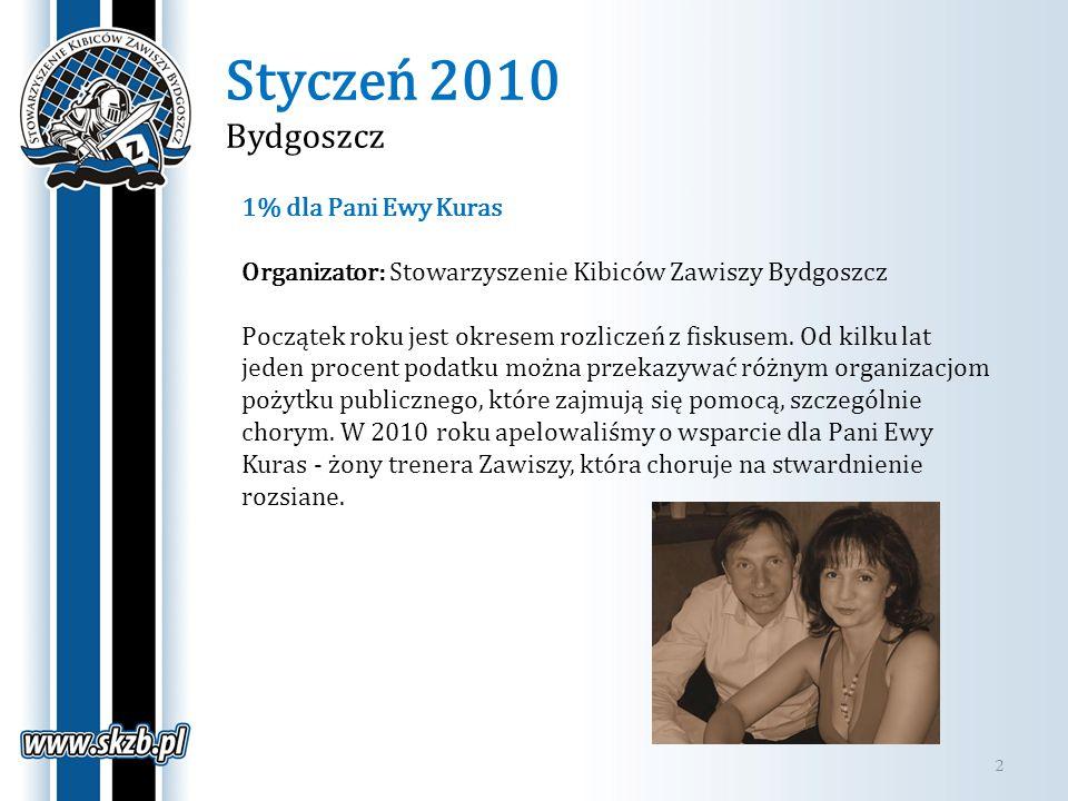 Styczeń 2010 Bydgoszcz 1% dla Pani Ewy Kuras