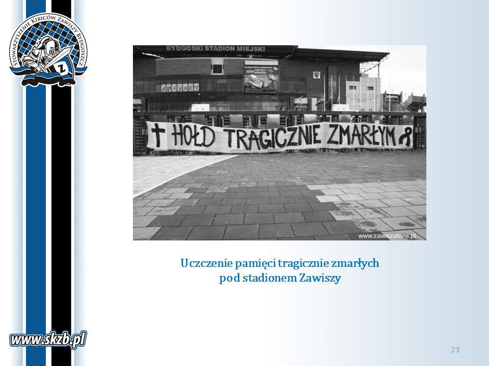 Uczczenie pamięci tragicznie zmarłych pod stadionem Zawiszy