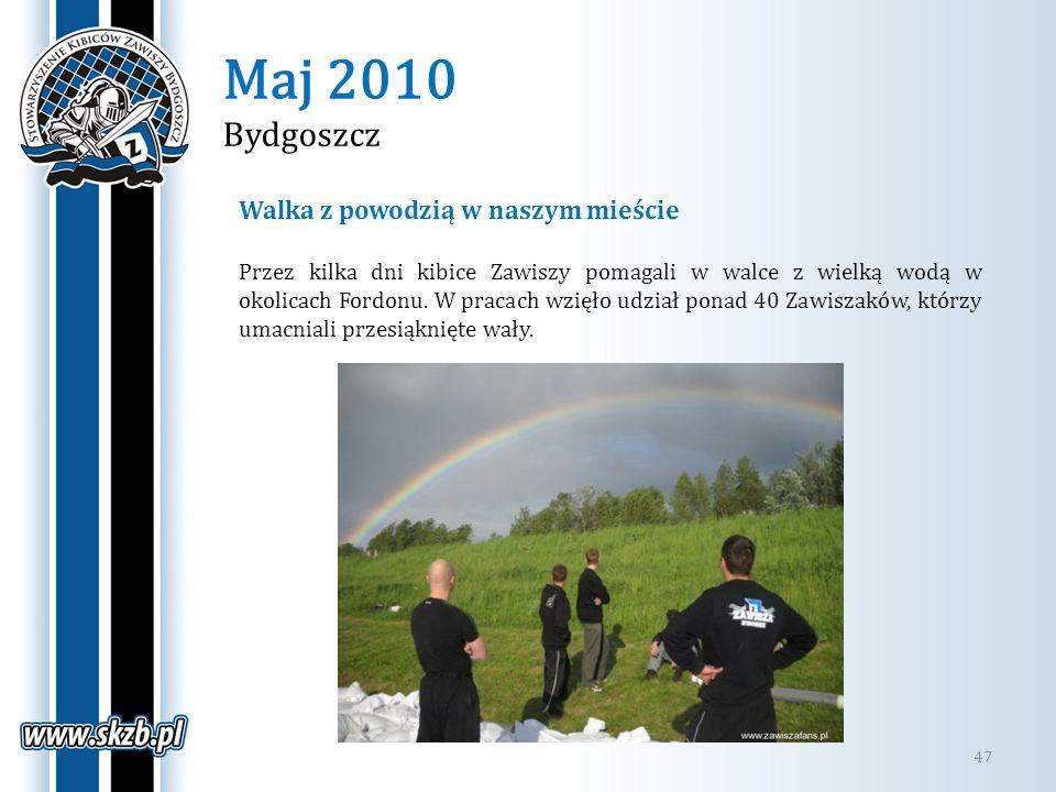 Maj 2010 Bydgoszcz Walka z powodzią w naszym mieście