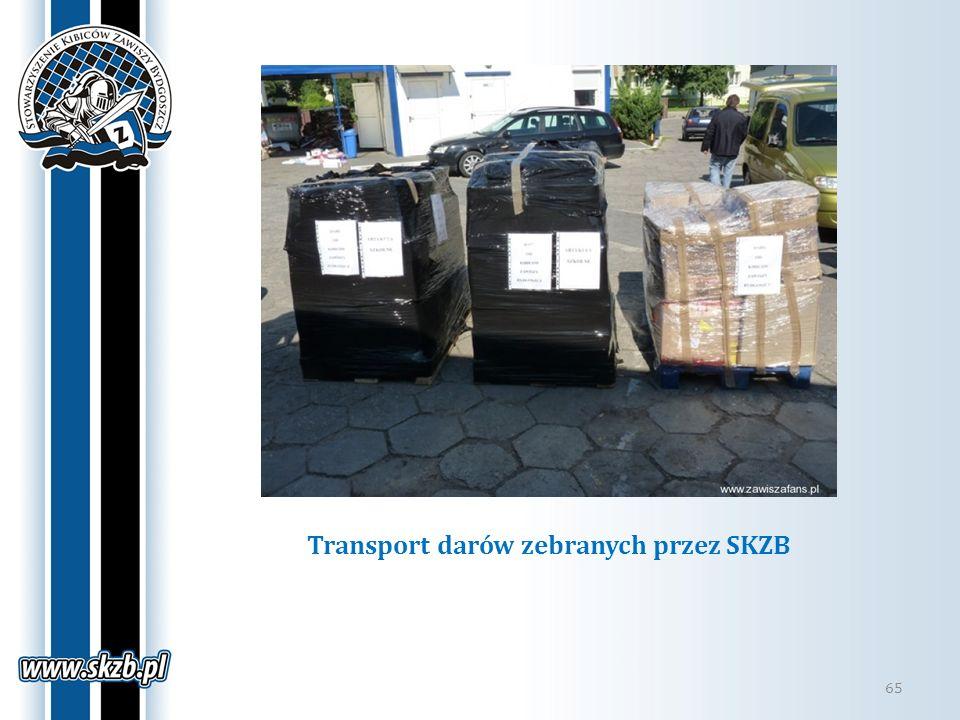Transport darów zebranych przez SKZB