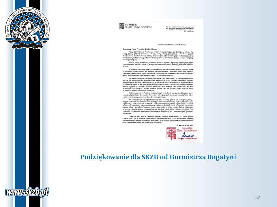 Podziękowanie dla SKZB od Burmistrza Bogatyni