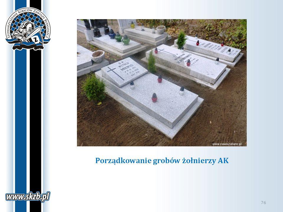 Porządkowanie grobów żołnierzy AK