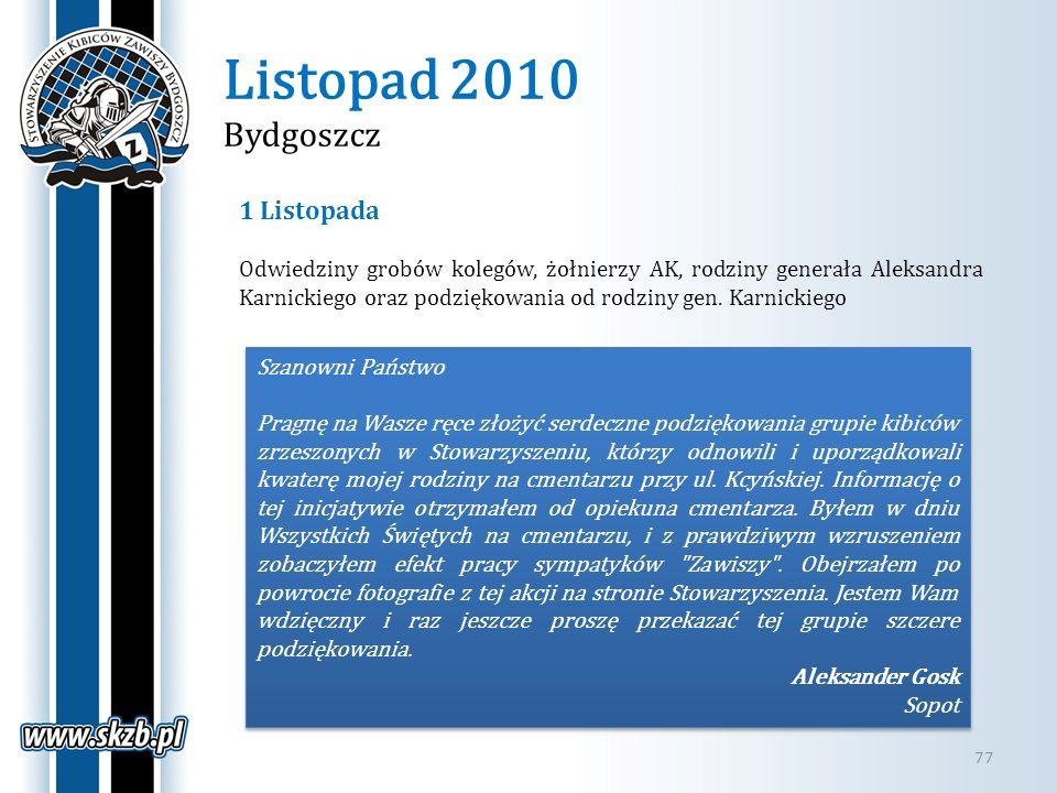Listopad 2010 Bydgoszcz 1 Listopada
