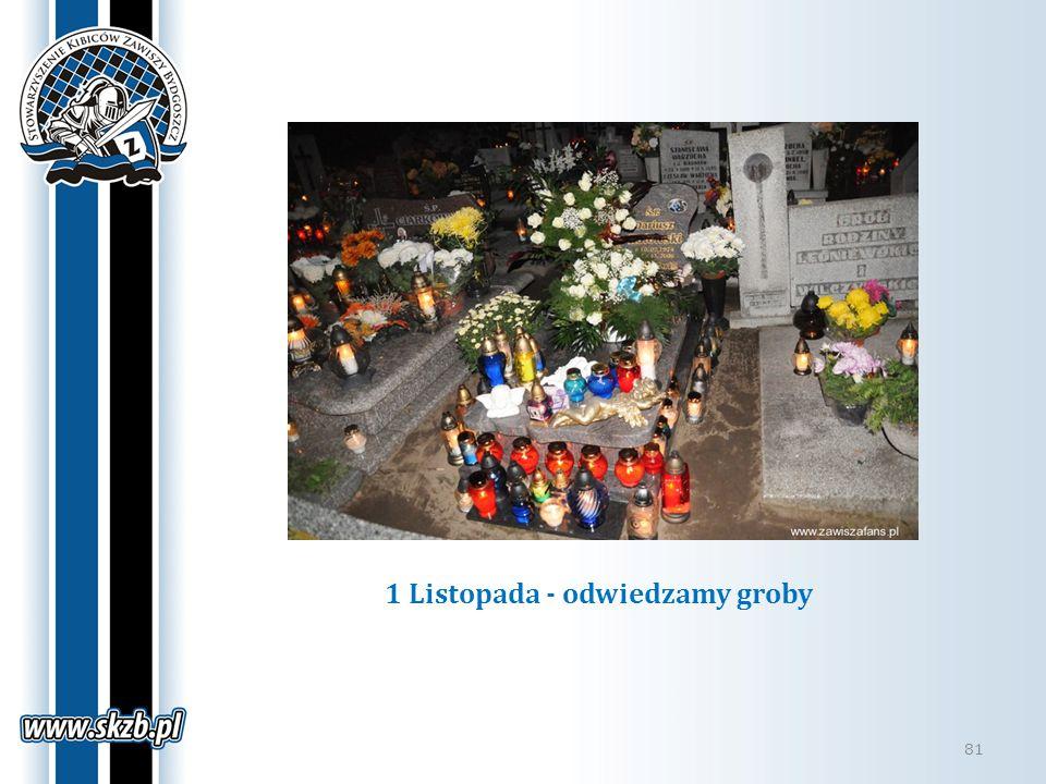 1 Listopada - odwiedzamy groby