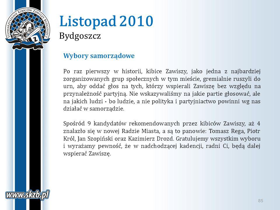 Listopad 2010 Bydgoszcz Wybory samorządowe