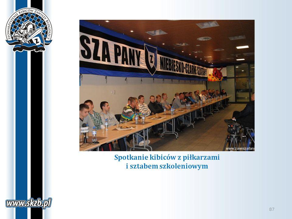 Spotkanie kibiców z piłkarzami i sztabem szkoleniowym