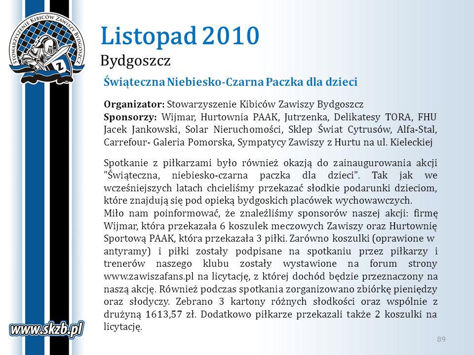 Listopad 2010 Bydgoszcz Świąteczna Niebiesko-Czarna Paczka dla dzieci