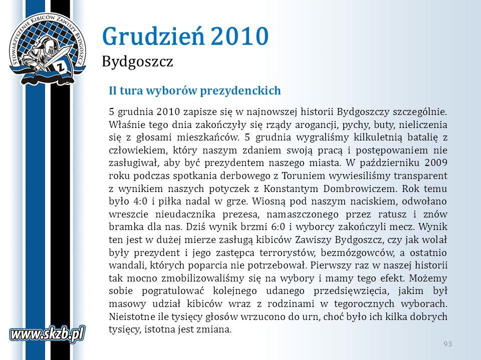 Grudzień 2010 Bydgoszcz II tura wyborów prezydenckich