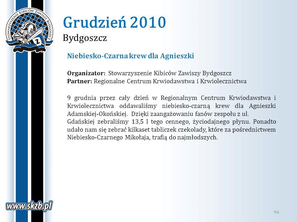 Grudzień 2010 Bydgoszcz Niebiesko-Czarna krew dla Agnieszki