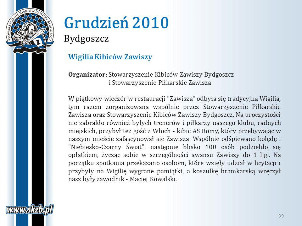 Grudzień 2010 Bydgoszcz Wigilia Kibiców Zawiszy