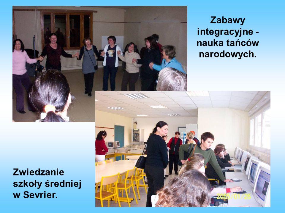 Zabawy integracyjne - nauka tańców narodowych.