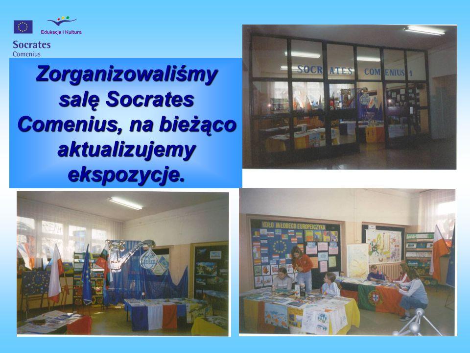 Zorganizowaliśmy salę Socrates Comenius, na bieżąco aktualizujemy ekspozycje.