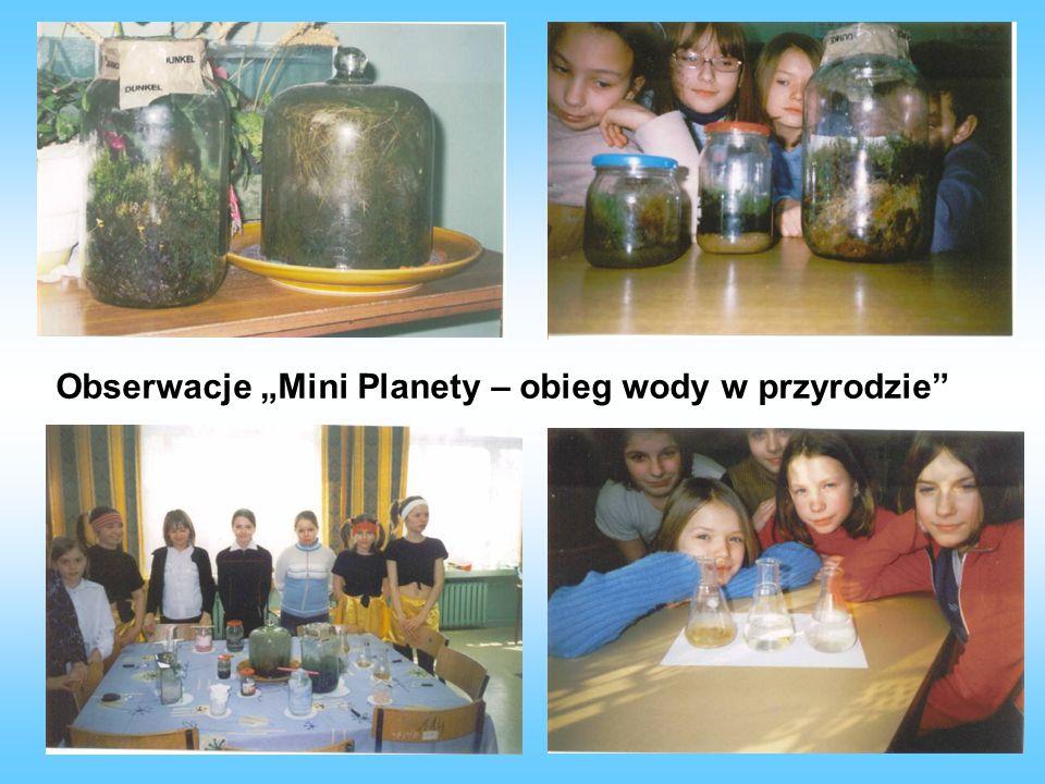 """Obserwacje """"Mini Planety – obieg wody w przyrodzie"""