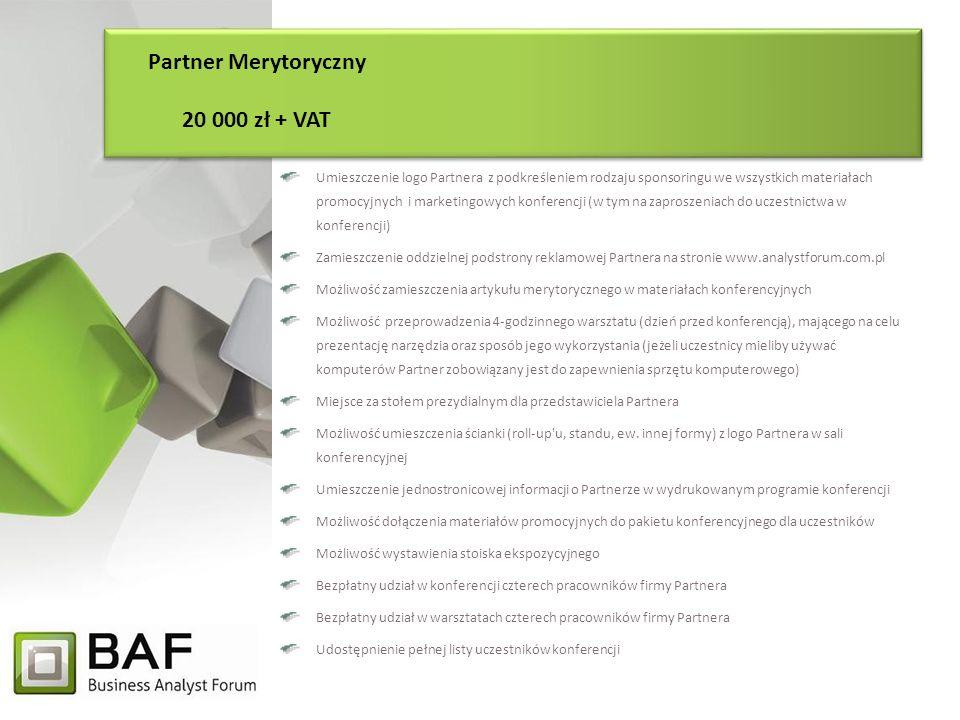 Partner Merytoryczny 20 000 zł + VAT