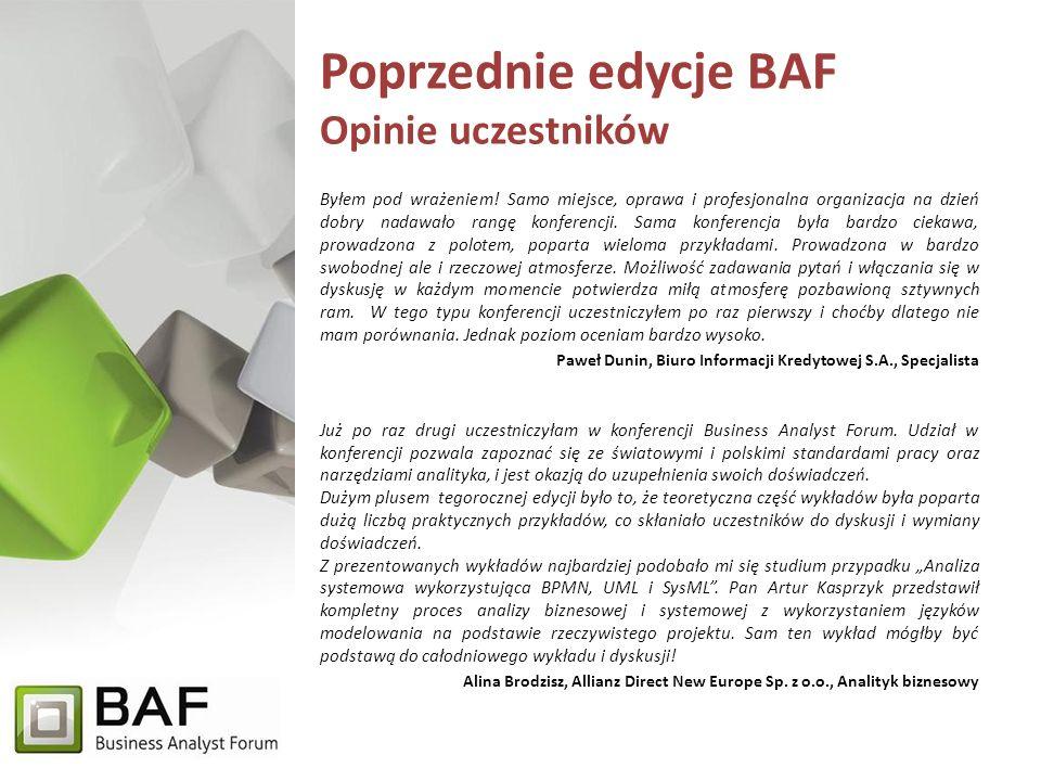 Poprzednie edycje BAF Opinie uczestników