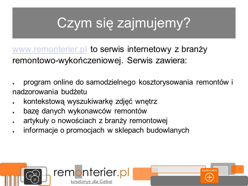 Czym się zajmujemy www.remonterier.pl to serwis internetowy z branży remontowo-wykończeniowej. Serwis zawiera: