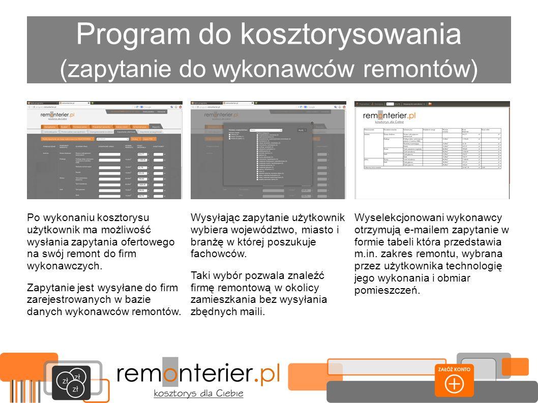 Program do kosztorysowania (zapytanie do wykonawców remontów)