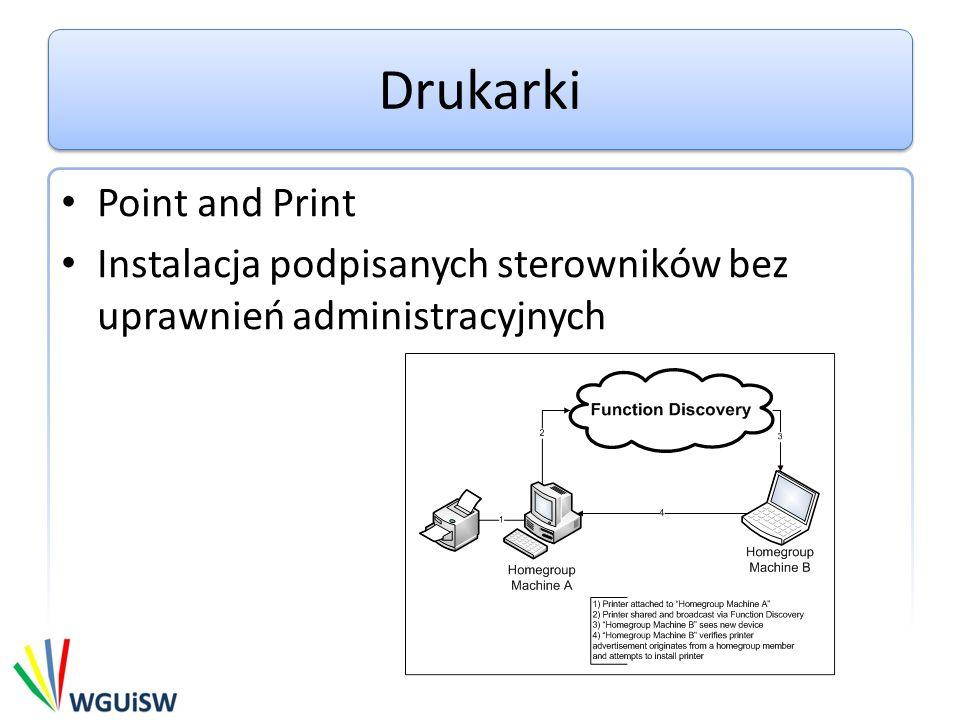 Drukarki Point and Print