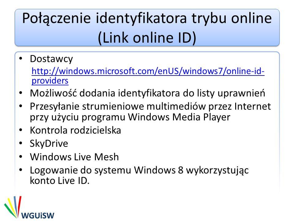 Połączenie identyfikatora trybu online (Link online ID)