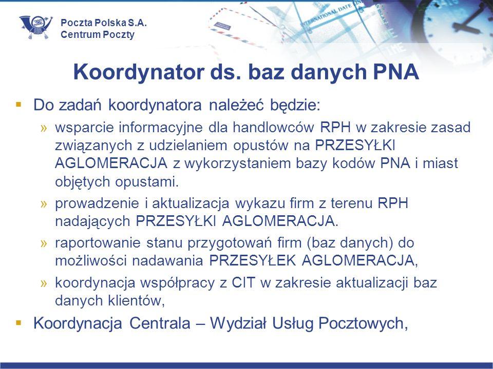 Koordynator ds. baz danych PNA