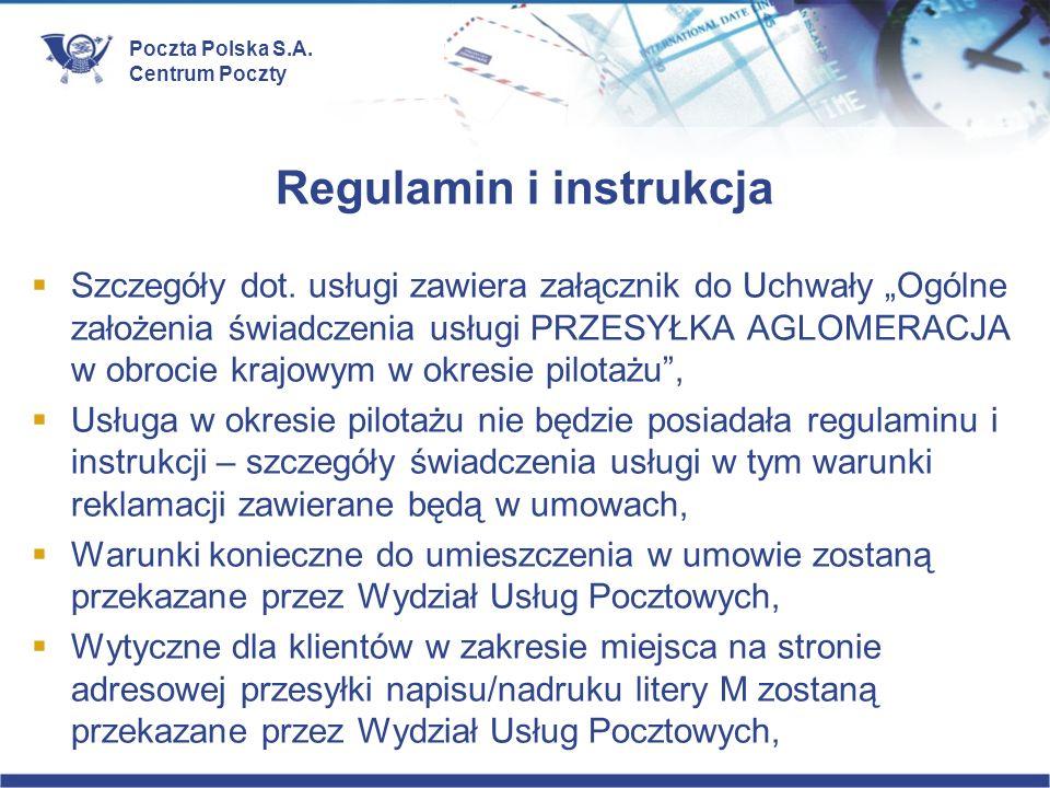 Regulamin i instrukcja