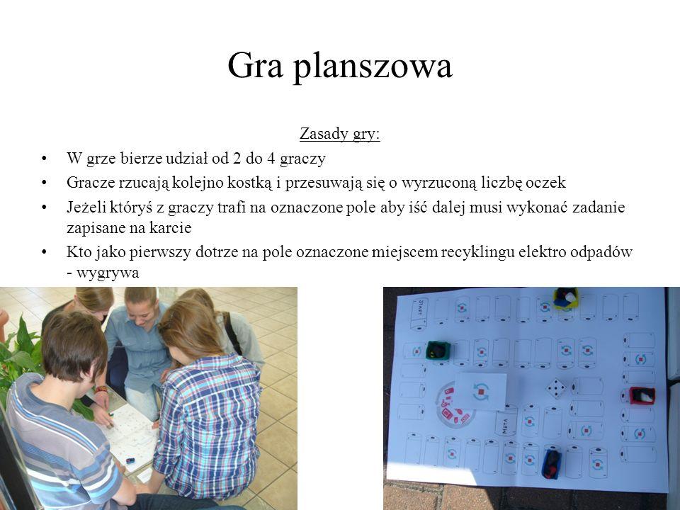 Gra planszowa Zasady gry: W grze bierze udział od 2 do 4 graczy
