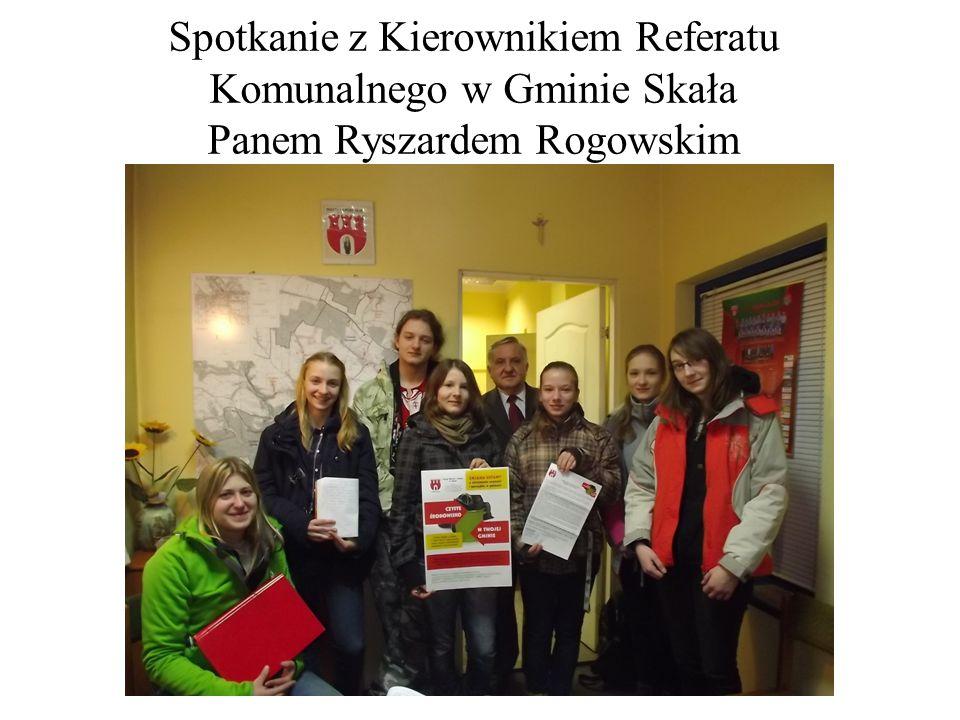 Spotkanie z Kierownikiem Referatu Komunalnego w Gminie Skała Panem Ryszardem Rogowskim