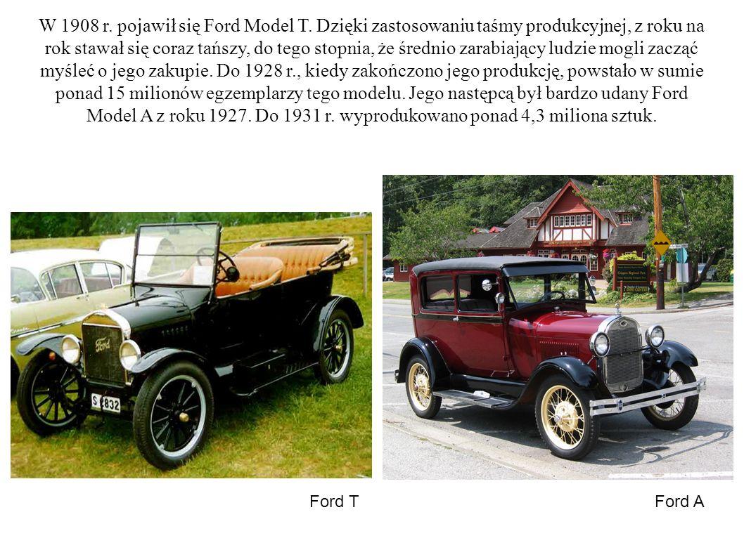 W 1908 r. pojawił się Ford Model T