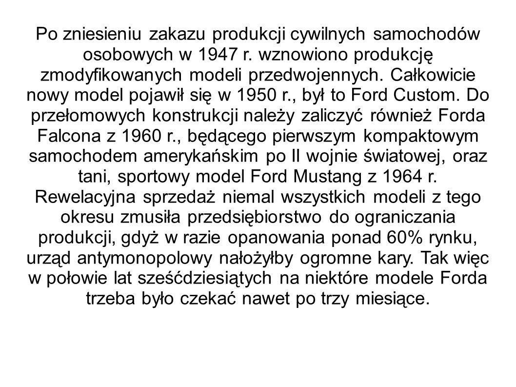 Po zniesieniu zakazu produkcji cywilnych samochodów osobowych w 1947 r