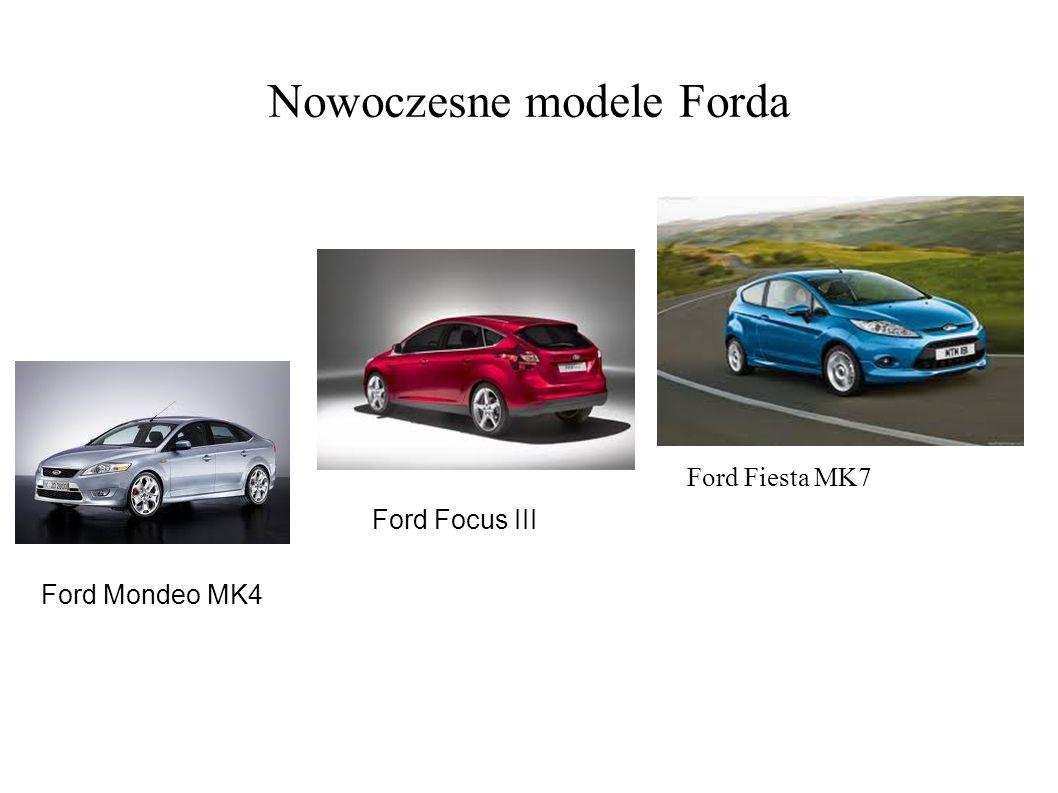 Nowoczesne modele Forda