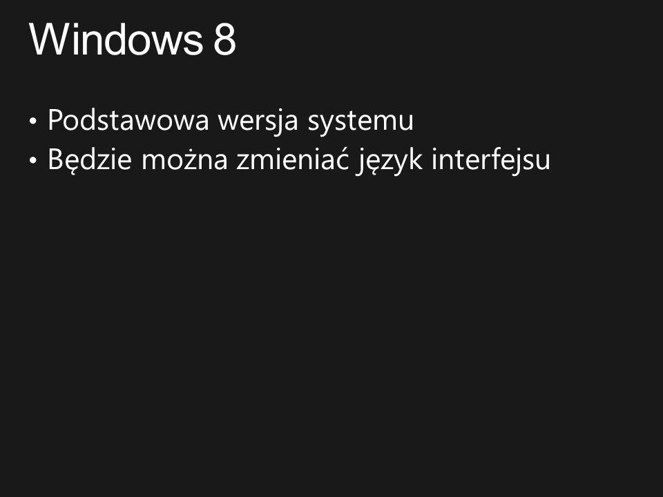 Windows 8 Podstawowa wersja systemu
