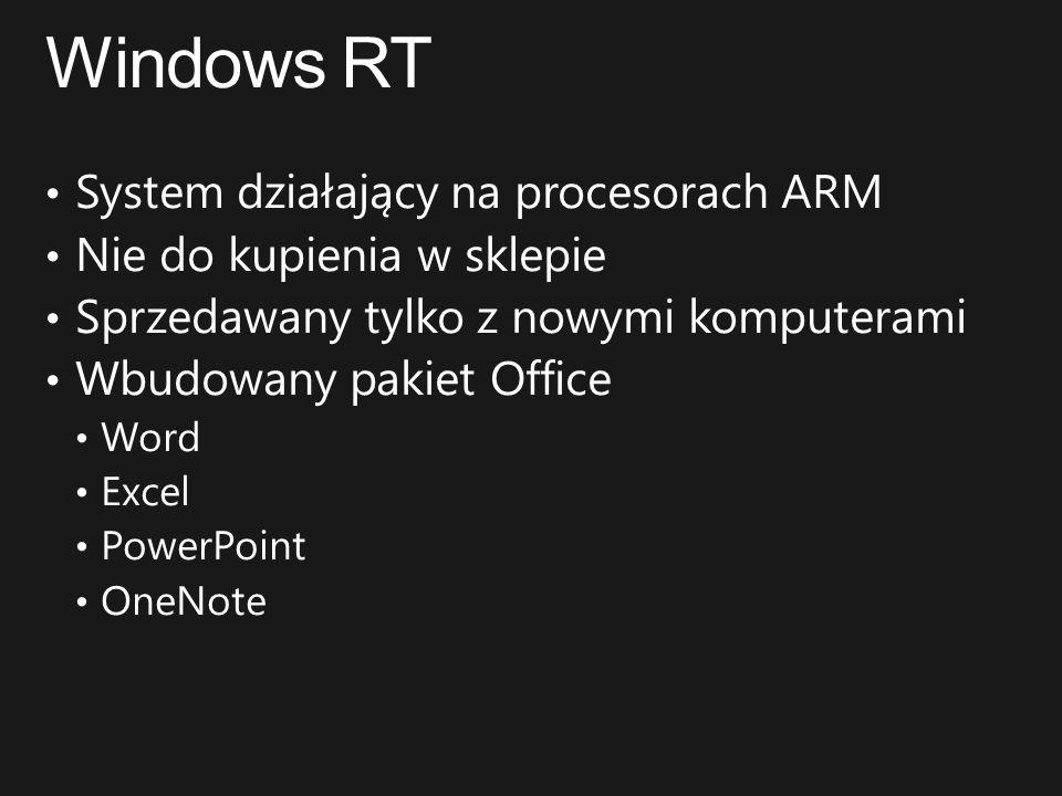 Windows RT System działający na procesorach ARM