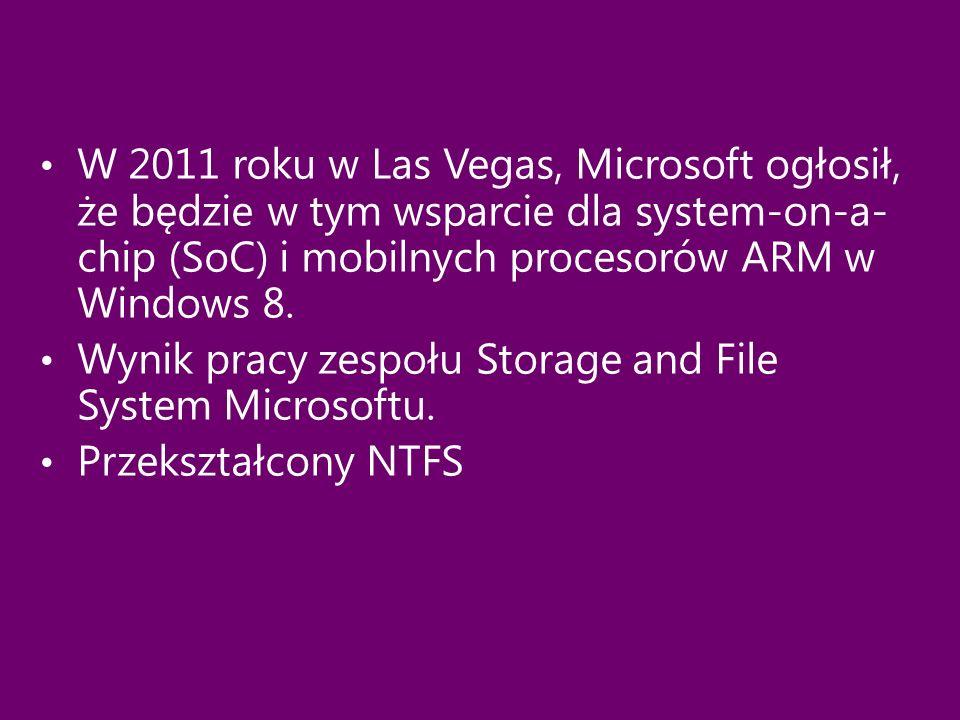 Wynik pracy zespołu Storage and File System Microsoftu.