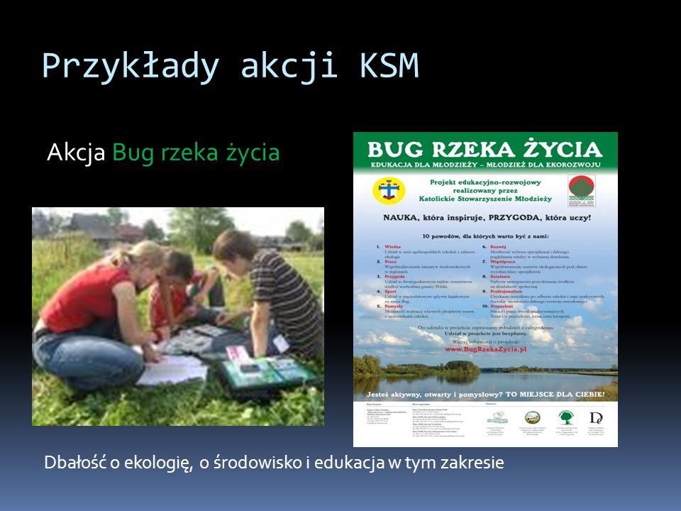 Przykłady akcji KSM Akcja Bug rzeka życia