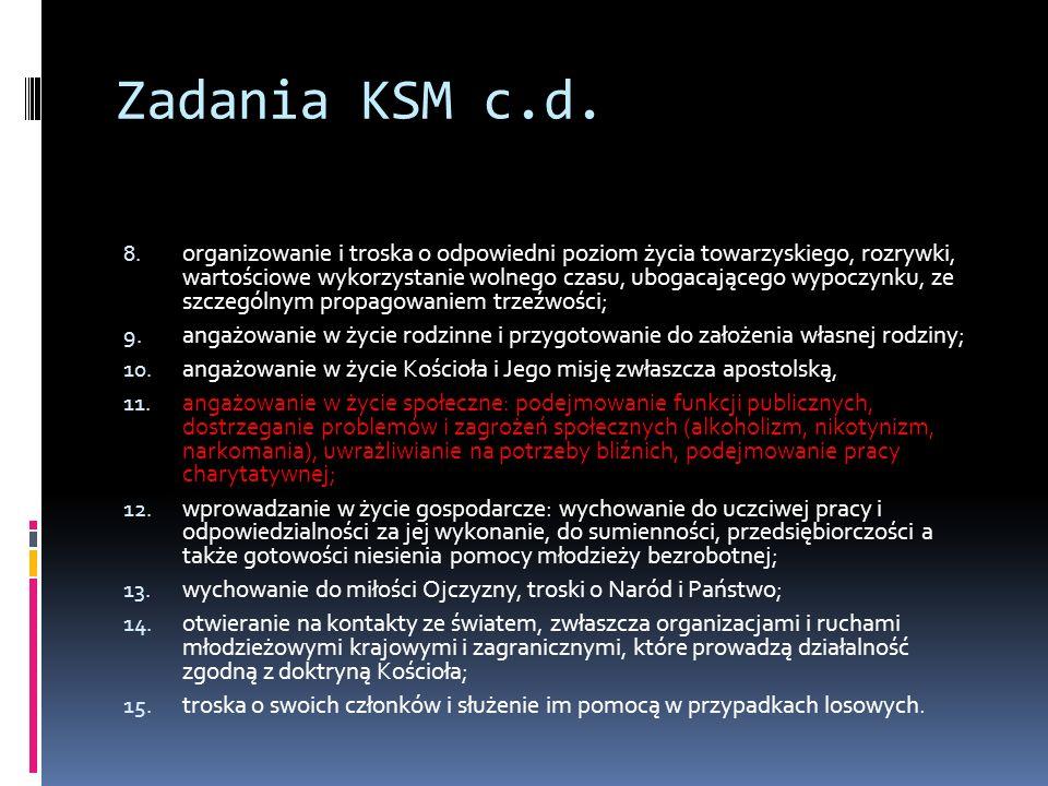 Zadania KSM c.d.