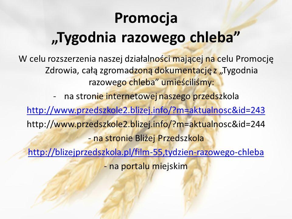 "Promocja ""Tygodnia razowego chleba"