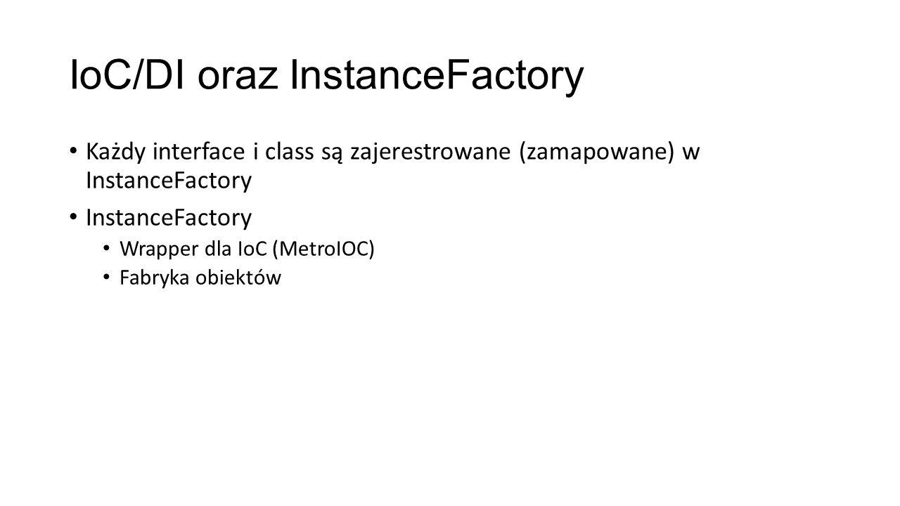 IoC/DI oraz InstanceFactory