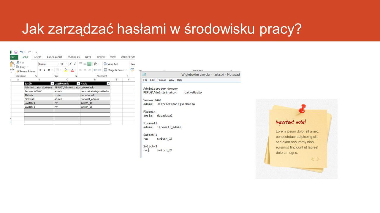 Jak zarządzać hasłami w środowisku pracy