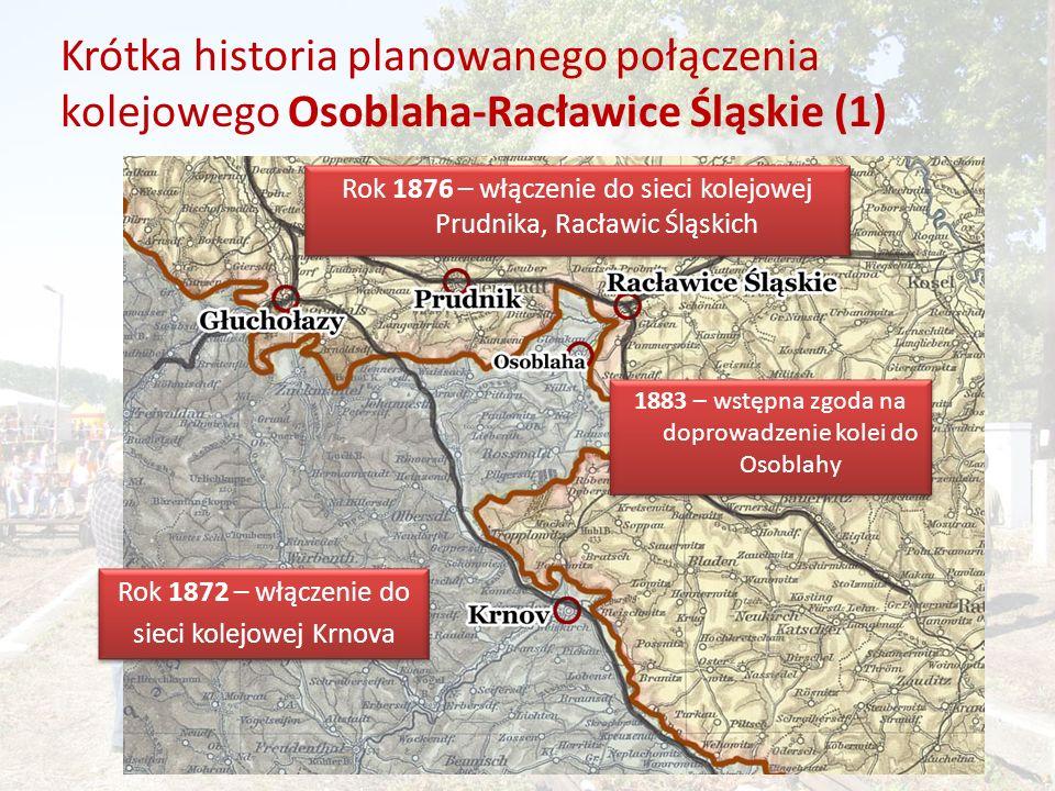 Krótka historia planowanego połączenia kolejowego Osoblaha-Racławice Śląskie (1)