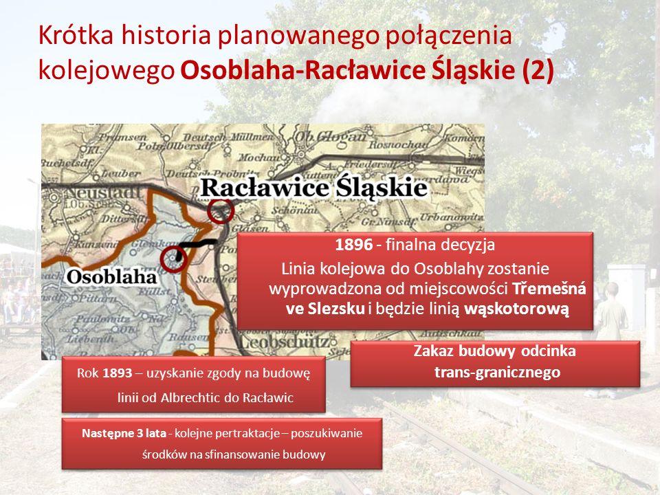 Rok 1893 – uzyskanie zgody na budowę linii od Albrechtic do Racławic