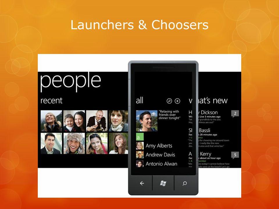 Launchers & Choosers