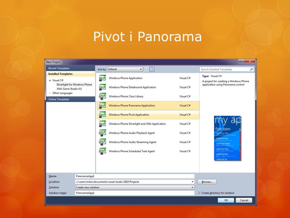 Pivot i Panorama