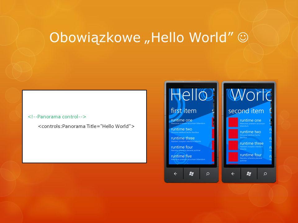 """Obowiązkowe """"Hello World """