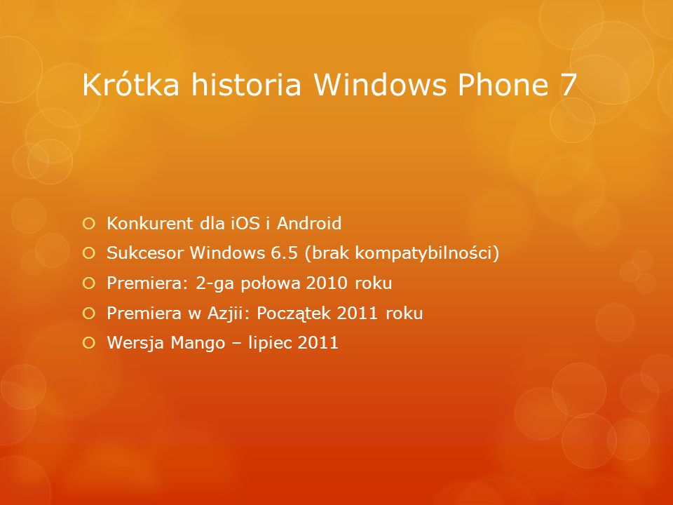 Krótka historia Windows Phone 7